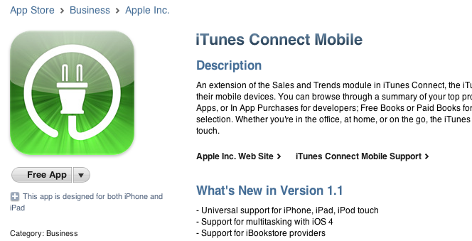 Apple actualiza iTunes Connect