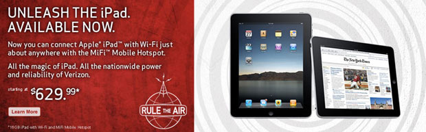 Apple IPAD ya a la venta de Verizon y AT & T