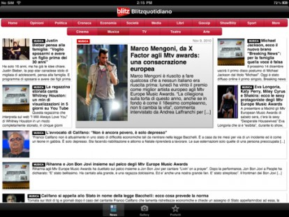 Blitzquotidiano HD - La solicitud de blitzquotidiano.it lectura de noticias IPAD