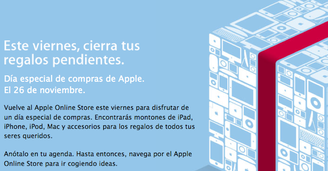 Este viernes es el Black Friday en el Apple Store on-line