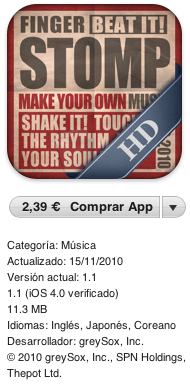 Finger Stomp HD para iPad, Review