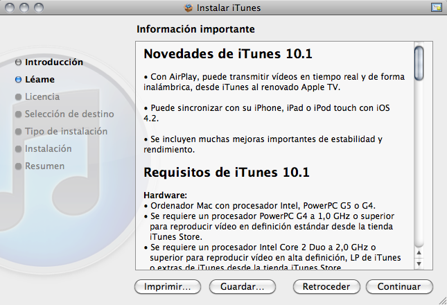iTunes 10.1 ya disponible!