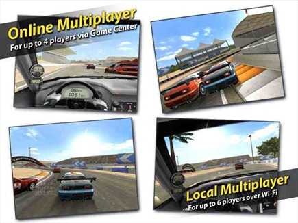 Multijugador online venir al Real Racing HD de IPAD