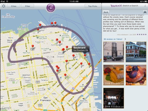 Yahoo! Sketch-a-Search llega al iPad