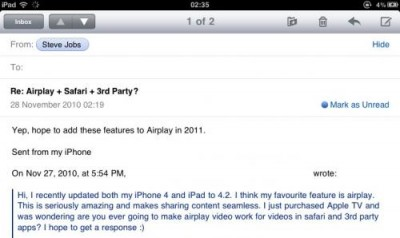AirPlay para todas las apps en 2011