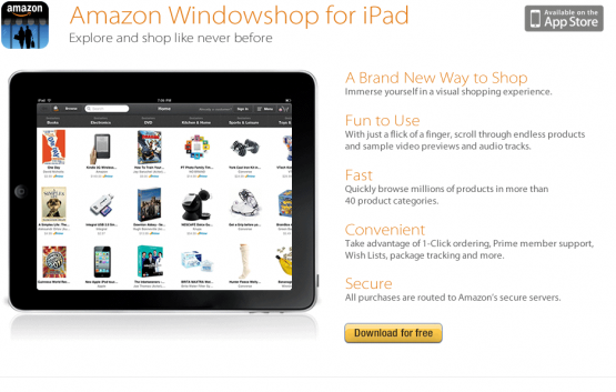 Amazon lanza Windowshop para el iPad