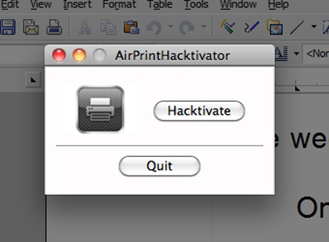 Apple intenta eliminar el tweak AirPrint Hacktivator