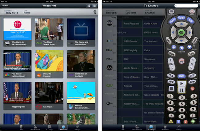 Verizon FiOS remote llega al iPad
