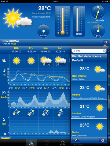 Weather Pro es la aplicación de la segunda Apple IPAD