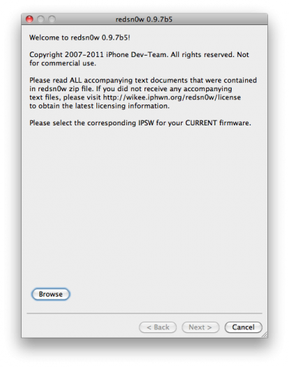 Dev Team: 0.9.7b5 Redsn0w para IOS sin ataduras Jailbreak 4.2.1 disponible para descargar