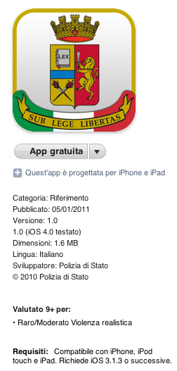 La policía dispone de IPAD Stato.it