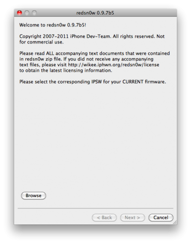 Tutorial: jailbreak untethered de iOS 4.2.1 con Redsn0w 0.9.7b5