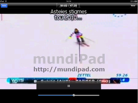 VideoBrowser para iPad reproduce Megavideo
