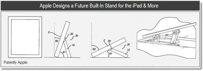 Apple patenta un stand incluido en el iPad