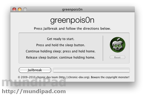 Jailbreak iPad untethered iOS 4.2.1 con GreenPois0n RC5