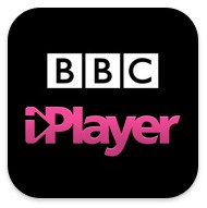 Manos con iPlayer de la BBC de IPAD