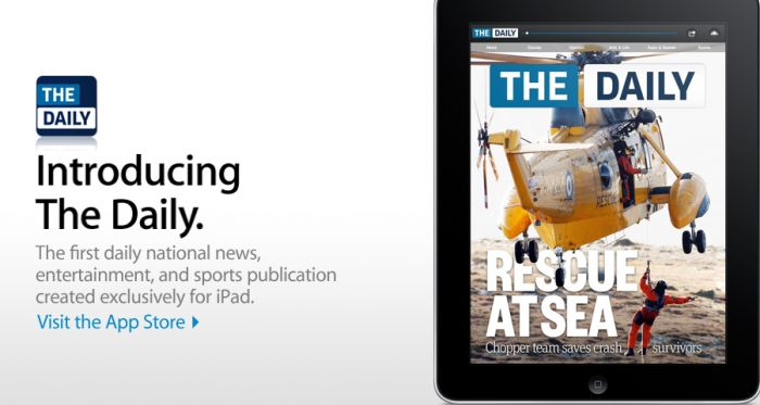 """The Daily"" en la portada de Apple.com"