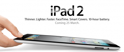 Apple confirma el lanzamiento del iPad 2 en UK