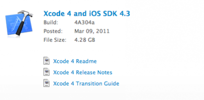 Apple pone a disposición para su descarga XCode 4