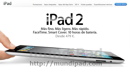 Disponible el iPad 2 desde la Apple Store Online