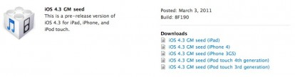 GM IOS disponibles para su descarga 4.3!