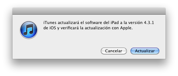 iOS 4.3.1 ya disponible