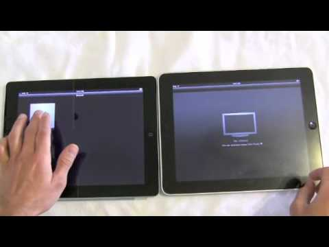 iPad 2 vs iPad 1: Multitarea en video