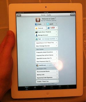 IPAD y Jailbroken iOS 4.3 pero no dispone aún de