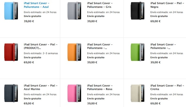 Las Smart Cover y el Cable AV del iPad 2 se envían en 24 horas