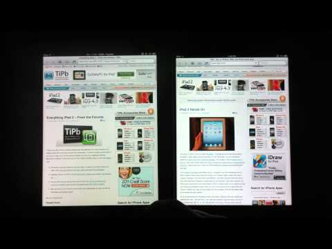 Safari: iPad vs. iPad 2