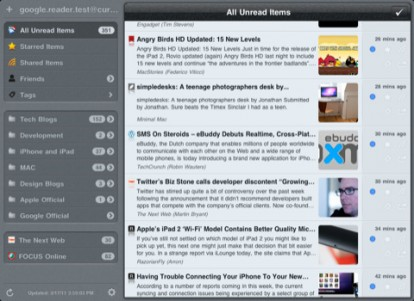 El Sr. Reader, un lector de feeds RSS totalmente optimizado para IPAD