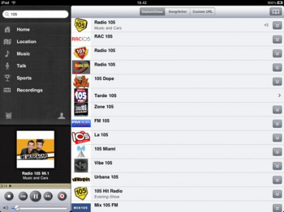 iRadio: muchas estaciones de radio IPAD