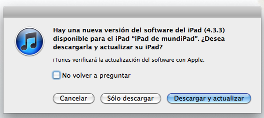 Apple publica el Firmware iOS 4.3.3 para iPad