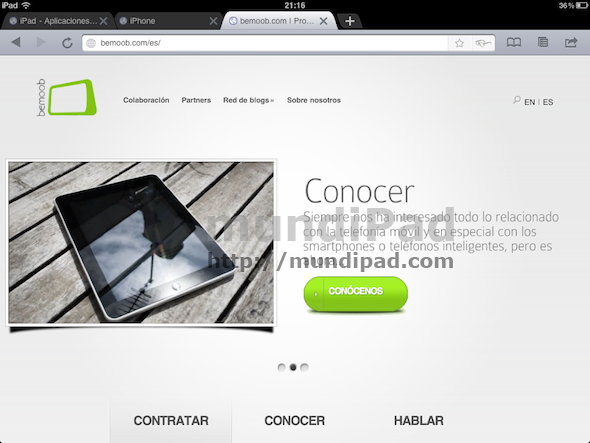 Google Chrome en tu iPad con iChromy