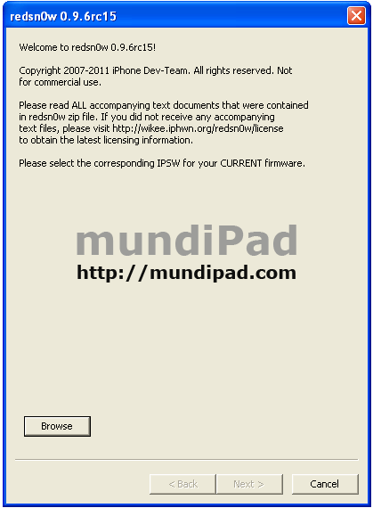 Manual Jailbreak del iPad con iOS 4.3.3 y RedSn0w