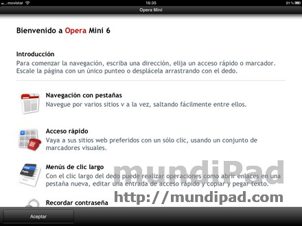 Opera mini compatible con iPad