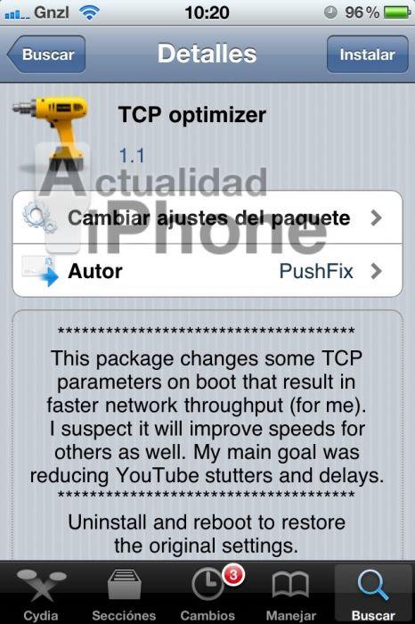 TCP optimizer: acelera la carga de YouTube en tu iPad con jailbreak (Cydia)
