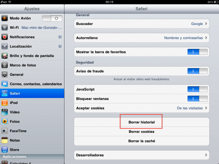 Tutorial: como borrar el historial de Mobile Safari