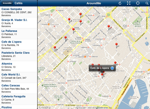 AroundMe ya es compatible con el iPad