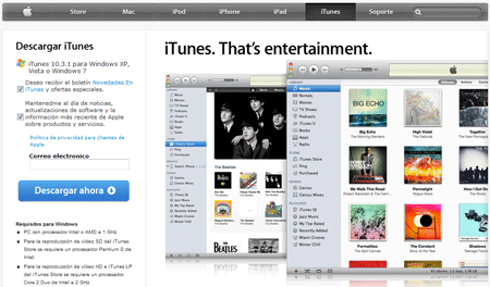 Disponible la actualización de iTunes 10.3.1