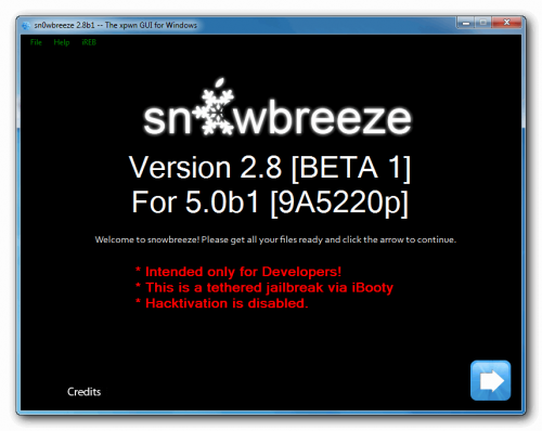 Sn0wbreeze: crea un custom firmware iOS 5b1 con Jailbreak (Windows)