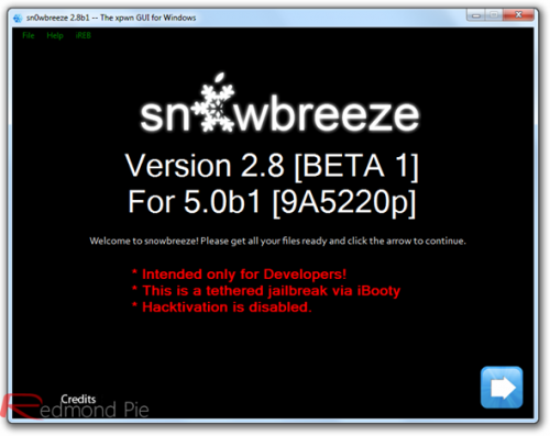 Tutorial: jailbreak tethered a iOS 5 con Sn0wbreeze (Windows) (Custom Firmware) Solo iPad 1