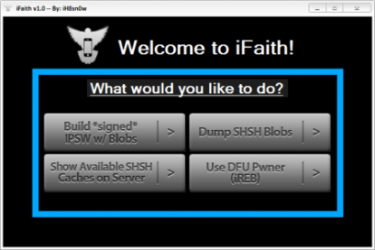 Disponible iFaith 1.1 para el rescate de SHSH no firmados por Apple