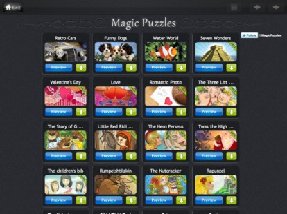 Puzzles Magic, muchos puzzles para componer a su iPad