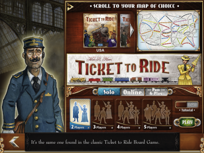 Ticket to Ride: una mesa de juego virtual - una revisión de iPadItalia