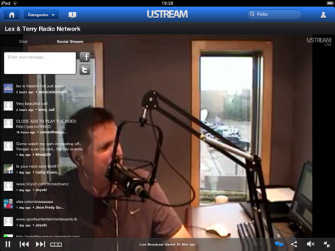 Ustream se actualiza y presenta una interfaz para el iPad