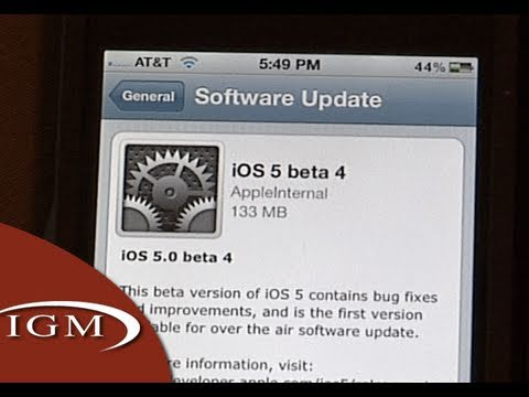 Video de la actualización Delta (OTA) de iOS 5 beta