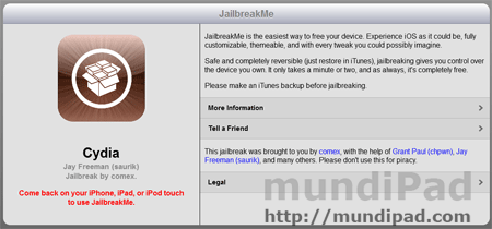 Video tutorial Jailbreak del iPad con JailbreakMe