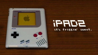 Gire el IPAD 2 de Game Boy ...