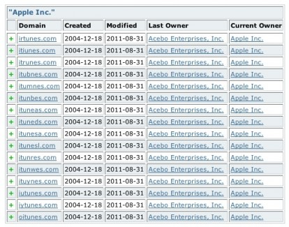 Apple recupera 16 varianti del dominio iTunes.com